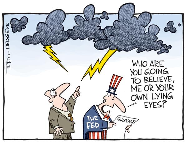 The Fed - lying eyes cartoon