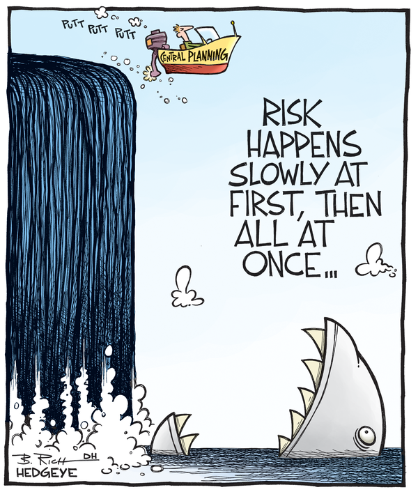 Risk happens slowly at first, then all at once - cartoon