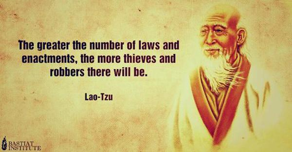The greater number of laws quote - Lao-Tzu
