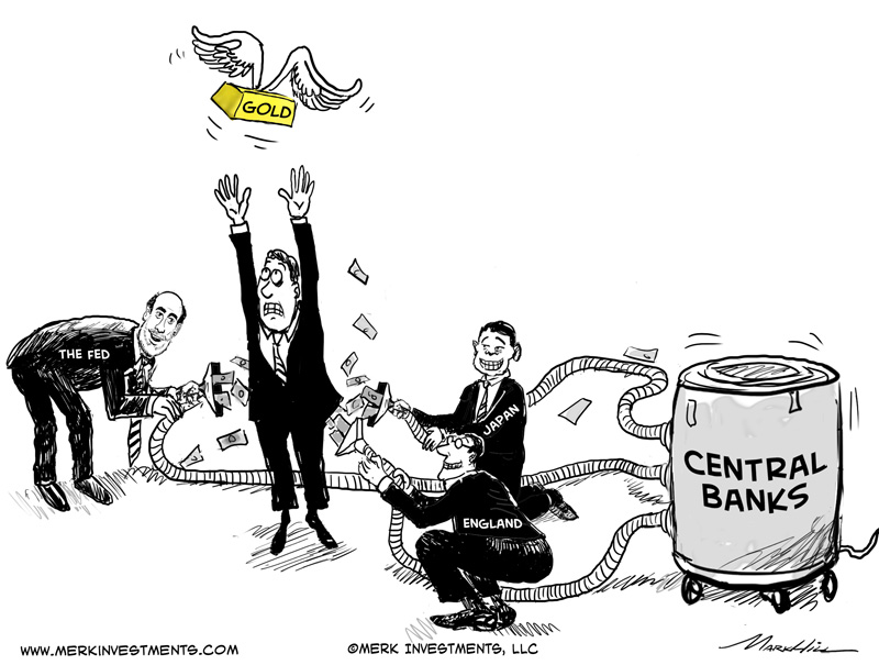 central bank vacuum cartoon