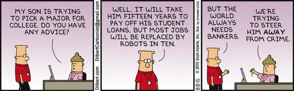 Dilbert, bankers, crime cartoon