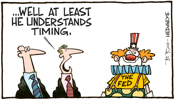 The Fed clown cartoon