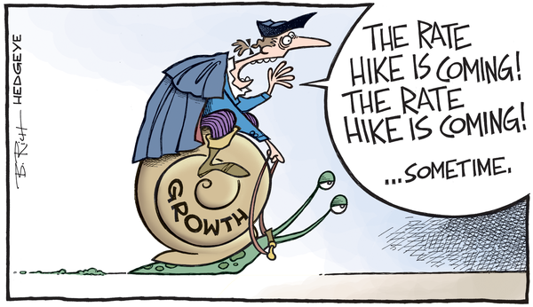 The Rate Hike is Coming cartoon