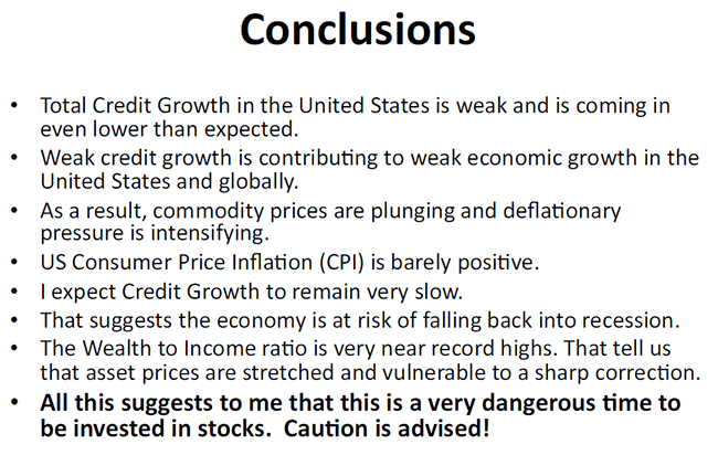 Conclusions - Total Credit Growth