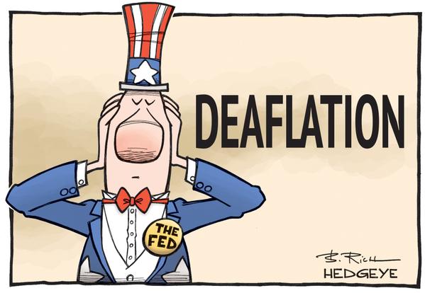 Uncle Sam holding ears - Deaflation cartoon