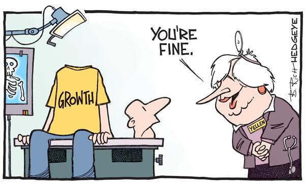 "headless Growth, Yellen: ""You're Fine"" cartoon"