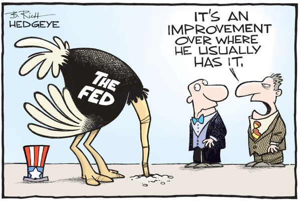 Head in sand Fed cartoon