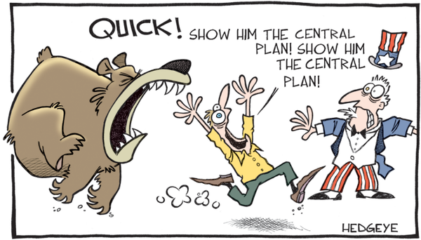 Show him the central plan cartoon