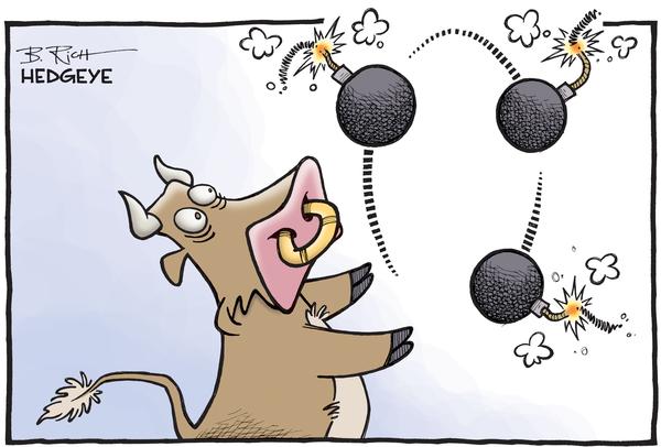 bull juggling bombs cartoon