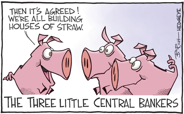 Three Little Central Bankers cartoon