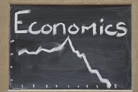 Economics, illustration on chalk board