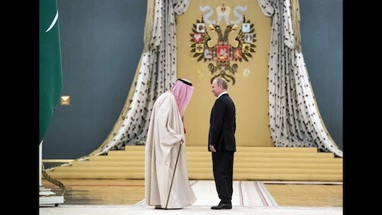 Saudi King Bows to New Middle East Tsar Putin & Brings Billions For Joint Projects With Russia